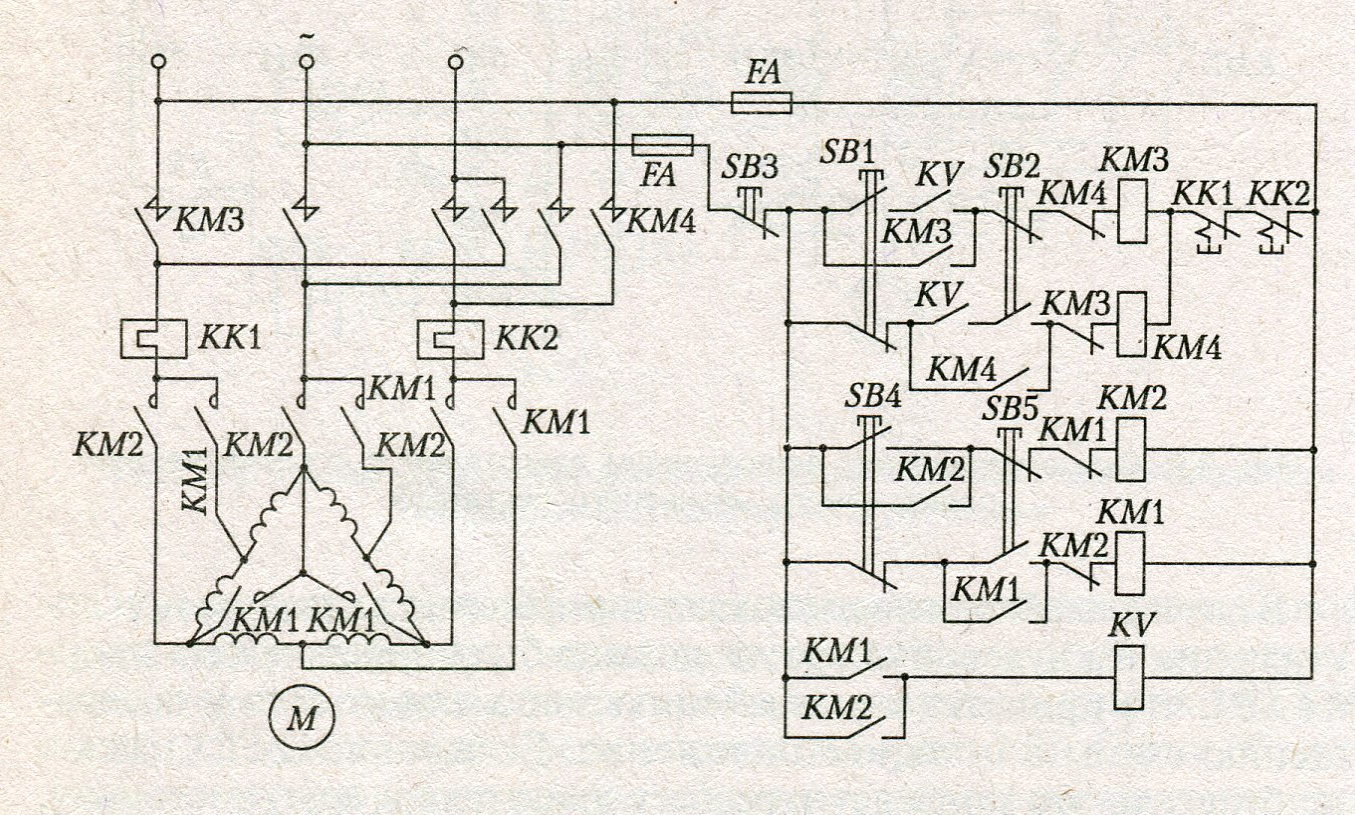 Двухскоростной асинхронный двигатель схема подключения фото 309
