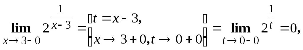 Самостоятельная работа № Введение в математический анализ Левый предел конечен и равен 0 а правый предел бесконечен Следовательно по определению