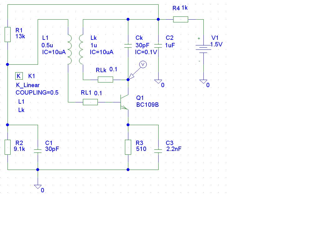 Состав курсовой работы Техническое задание на проектирование  Колебательный контур lkck включён в цепь коллектора транзистора q1 Сопротивления rlk и rl1 отражают активные потери в колебательном контуре и катушке связи