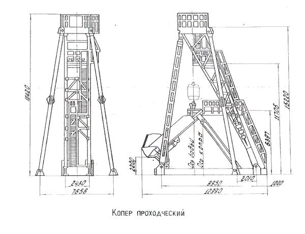 Железобетонные копры строительство железобетонного склада