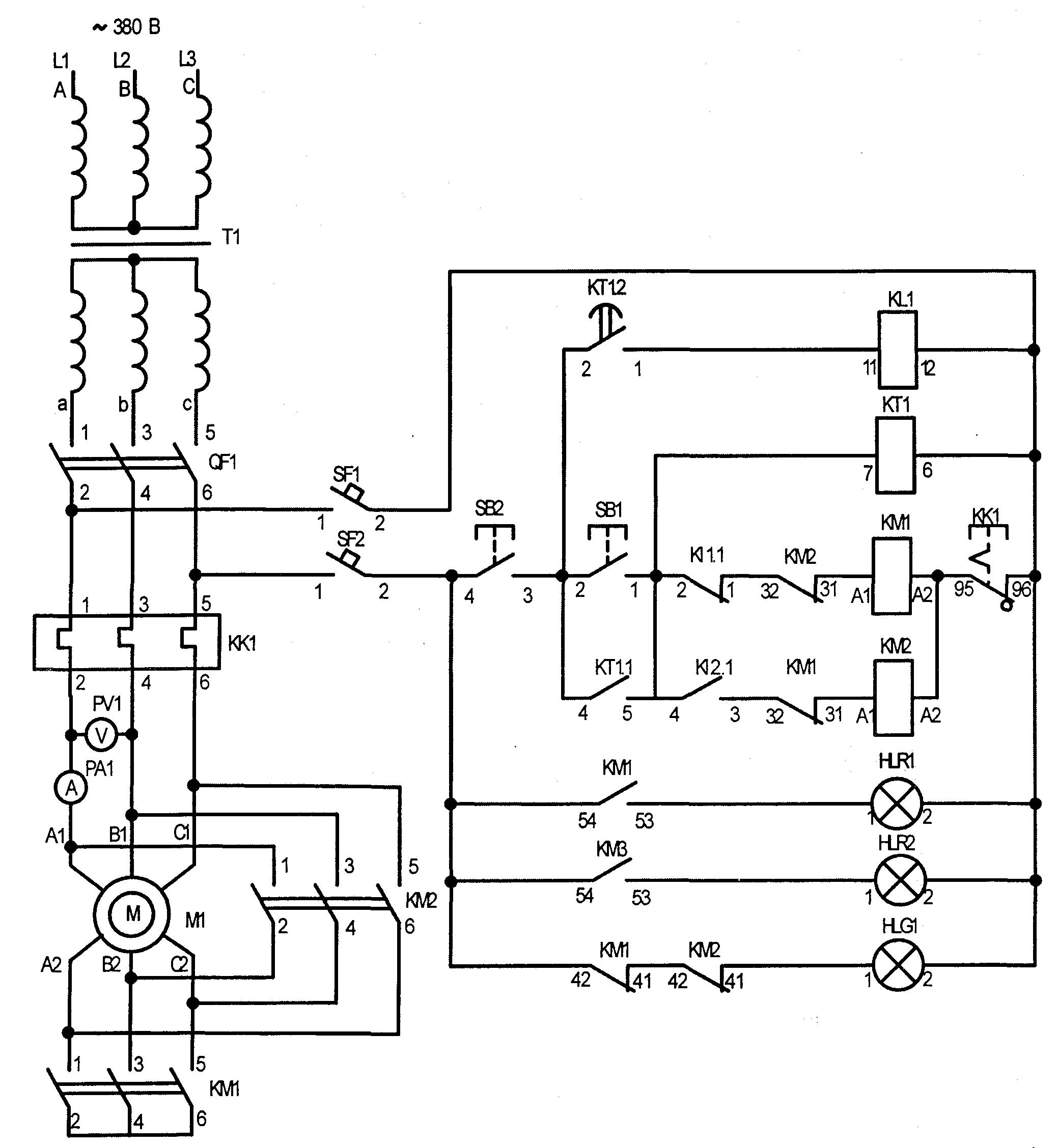 принципиальная схема кнопочного поста 380