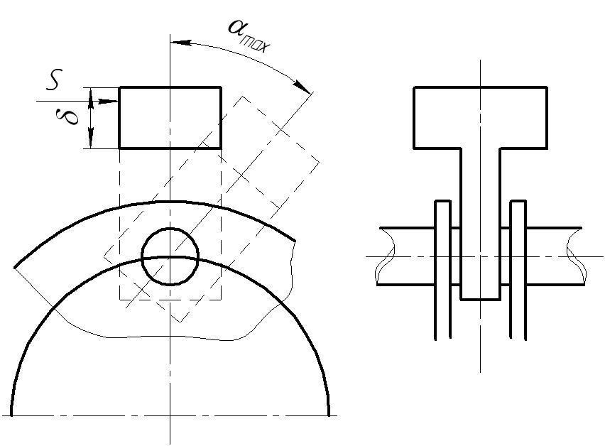 Схема молотка дробилки