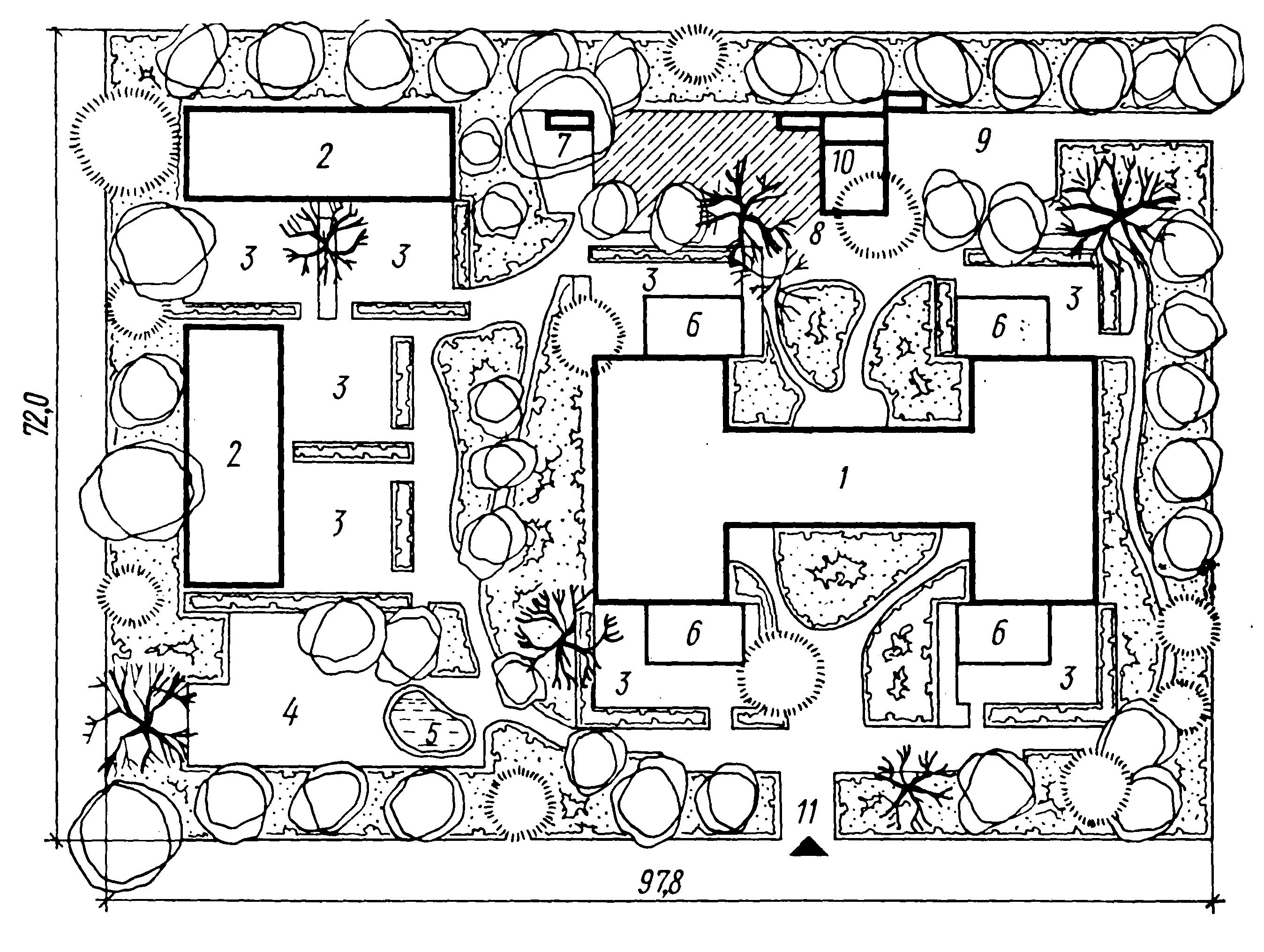 Схема детского сада чертеж