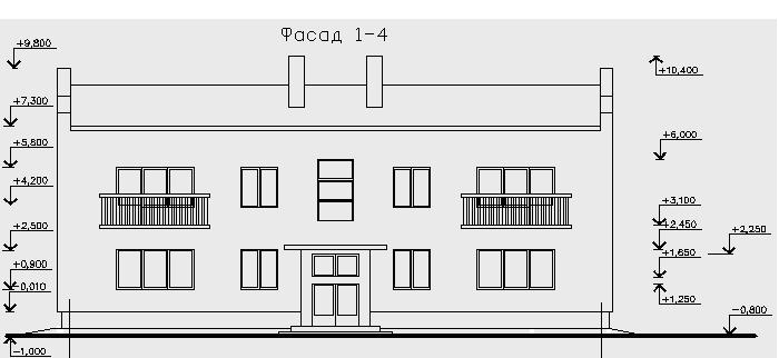 Фасады зданий и сооружений Контрольно графическая работа № 6 План фасад разрез здания