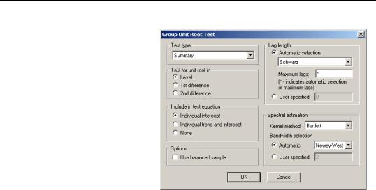 Panel Unit Root Tests