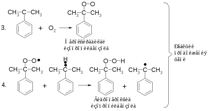 взаимодействие изопропилбензола с озоном