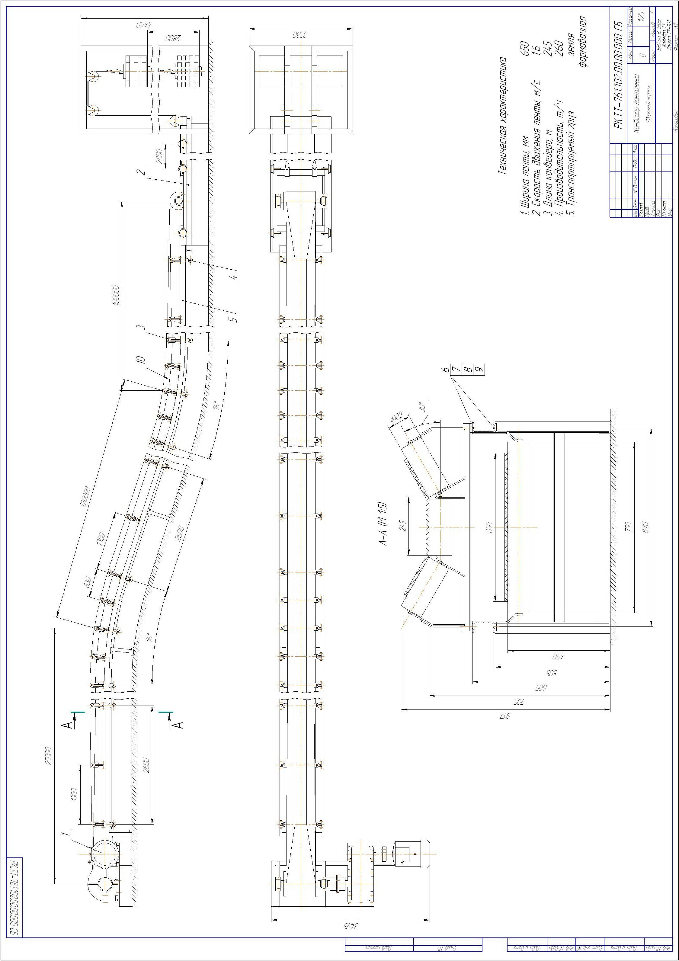Оформление графической части курсовой работы Примеры выполнения чертежей курсовой работы представлены на рис 9 и рис 10