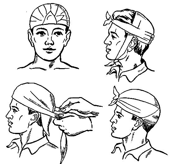 Первая помощь при травме головы в картинках