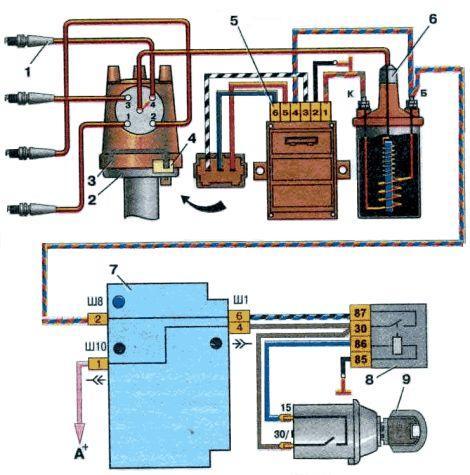 Бесконтактного электронного зажигания схема