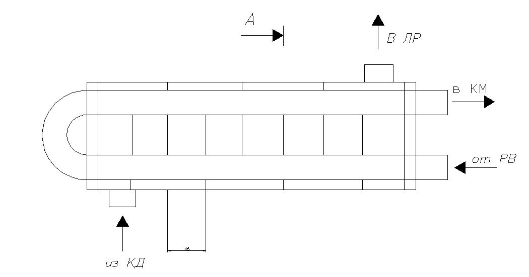 Обоснование выбора темы дипломного проекта  Рис 5 Эскиз переохладителя жидкого фреона с кипением внутри труб