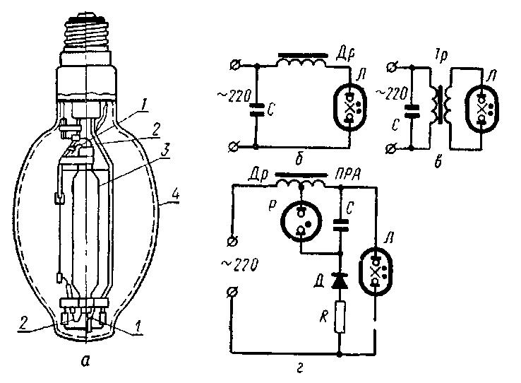Натриевые лампы низкого давления схема включения