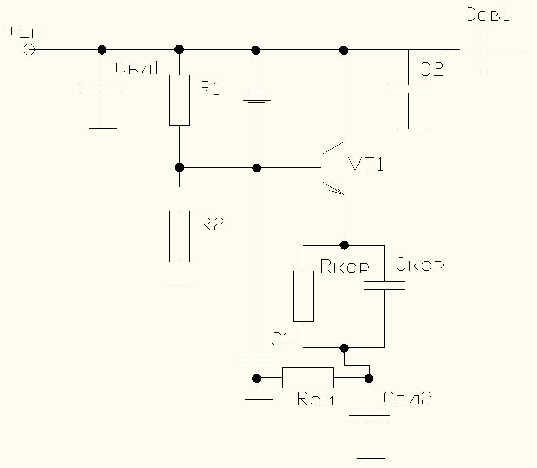 каскад с общей базой: принципиальная схема