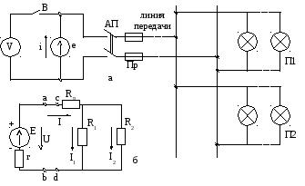 Схема замещения электрической цепи постоянного тока
