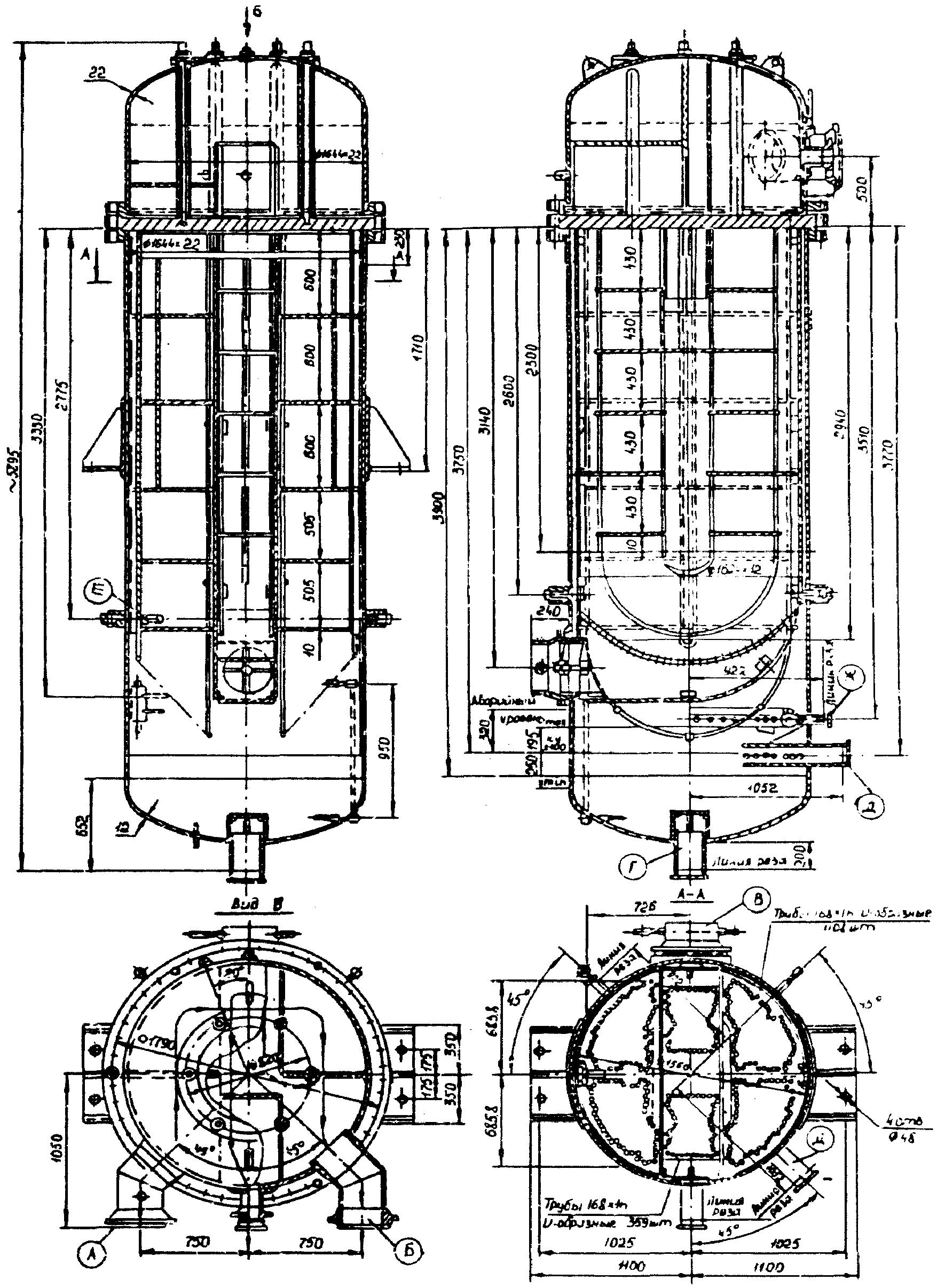 Подогреватель низкого давления ПН 400-26-2 III Северск ферингер с теплообменником