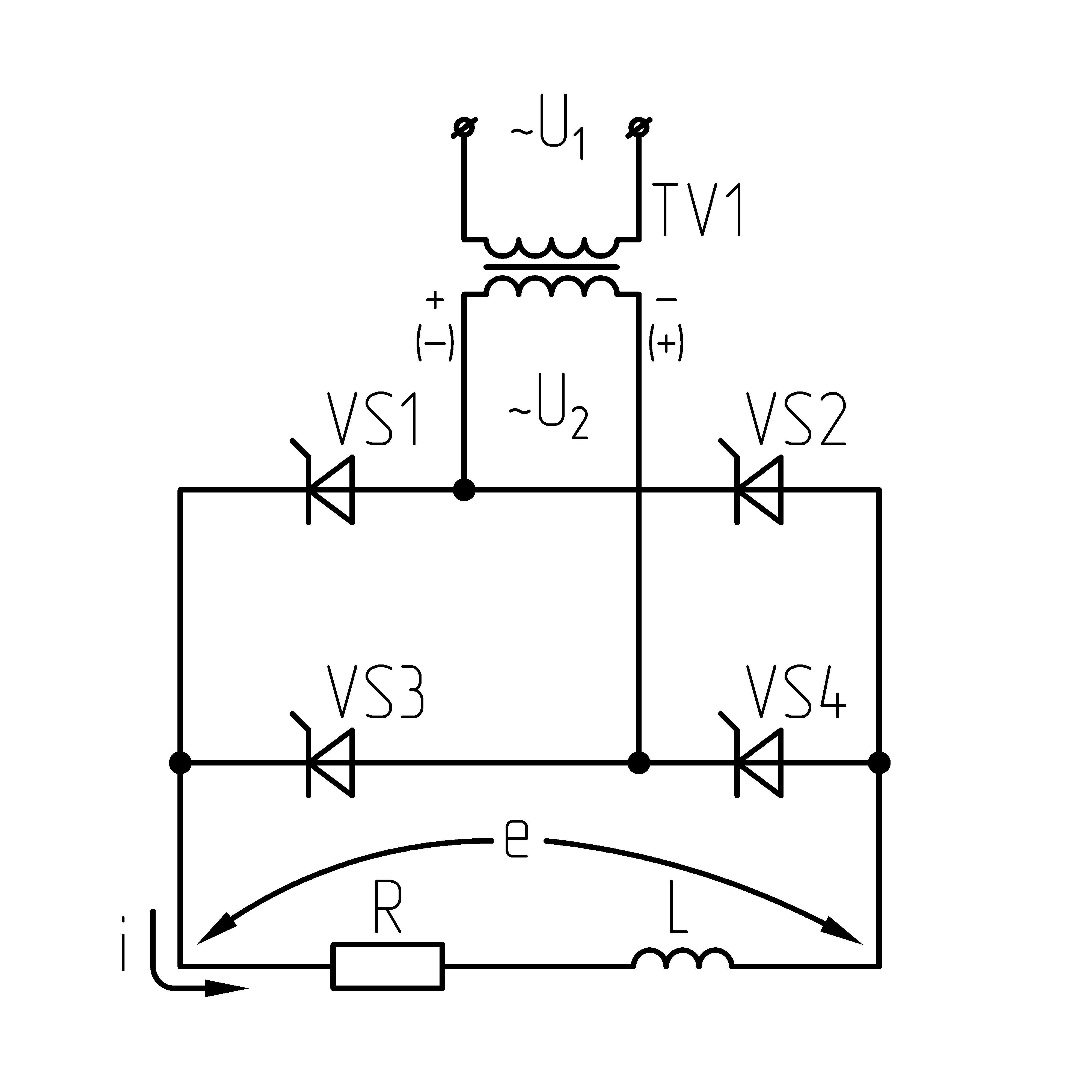 Однофазная двухполупериодная схема выпрямления фото 520