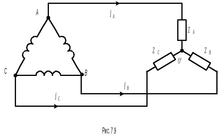 Схема включения на линейное напряжение