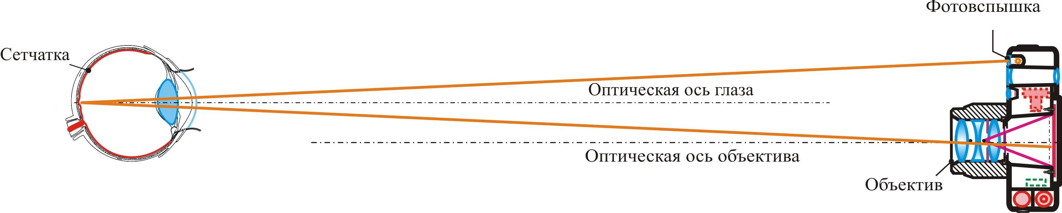 схема отражателя для встроенной вспышки
