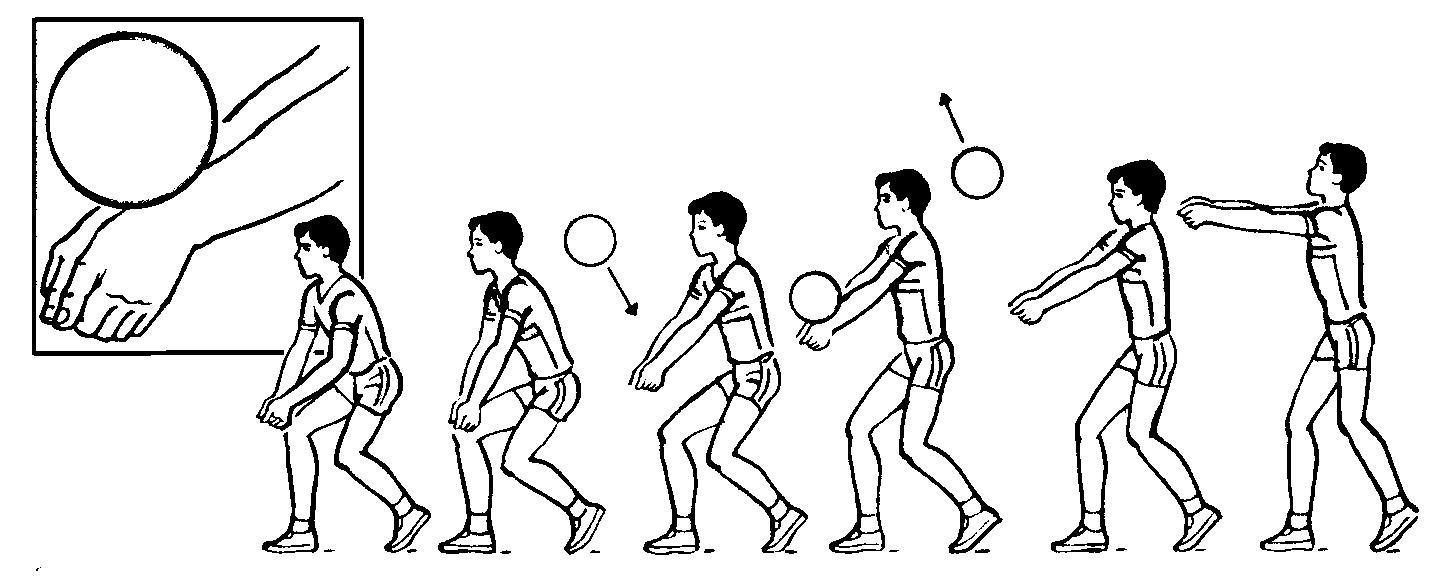 подвижная игра передача мяча в колоннах схема
