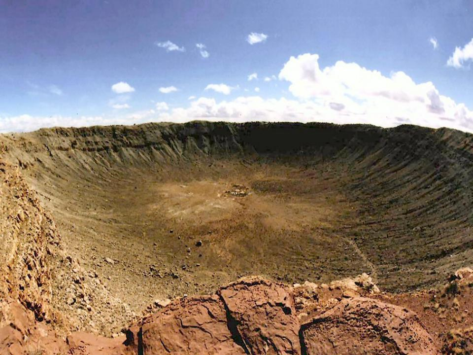 метеоритные кратеры на земле фото современная