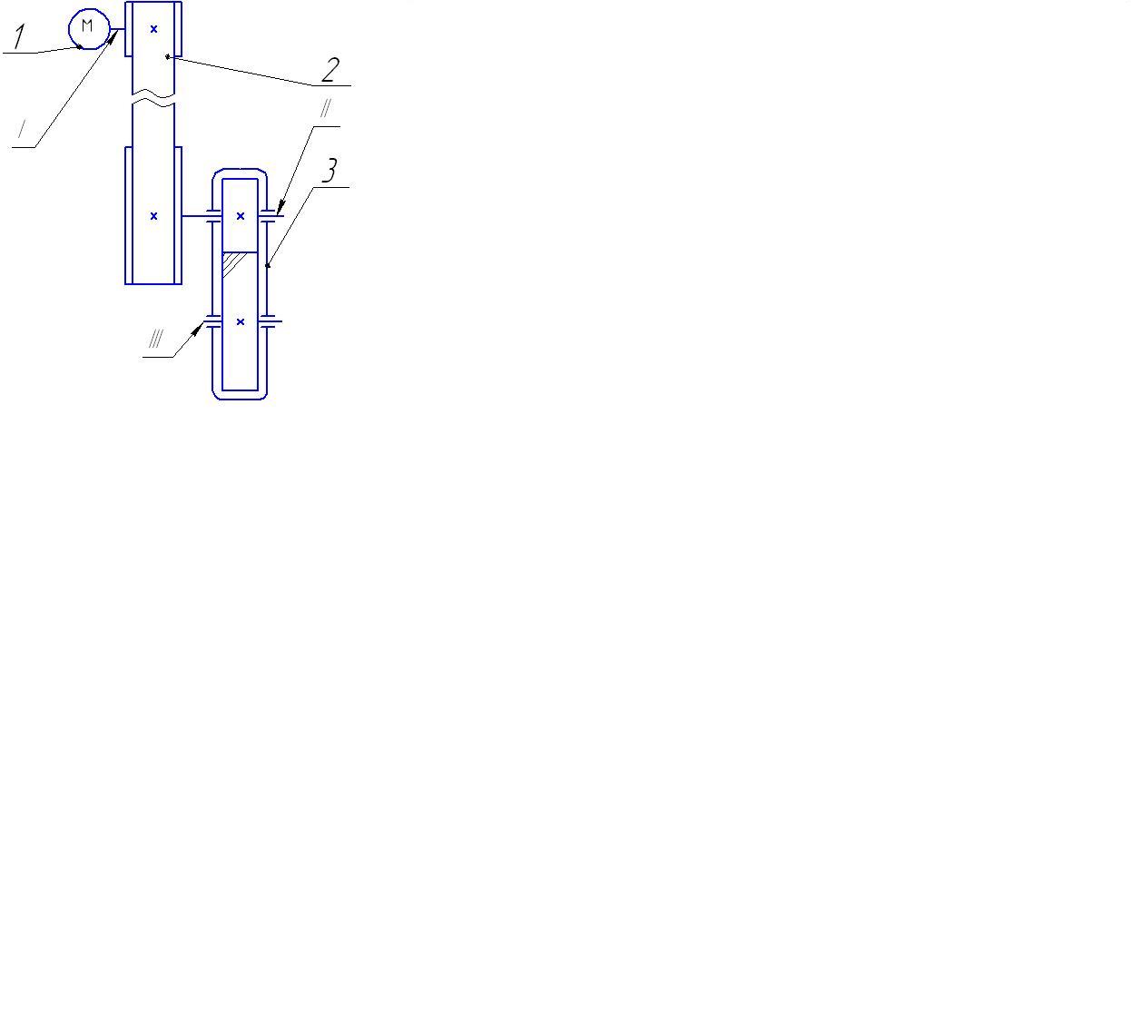 Кинематическая схема электродвигателя