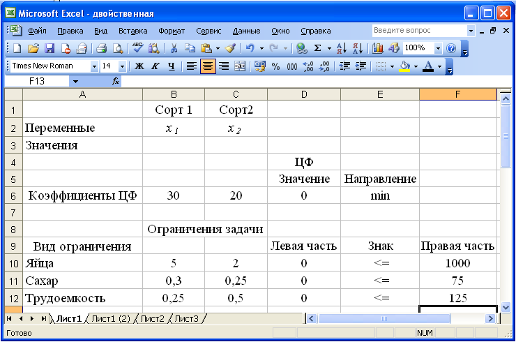 Excel решение задачи на прибыль урок решения задач на силу лоренца
