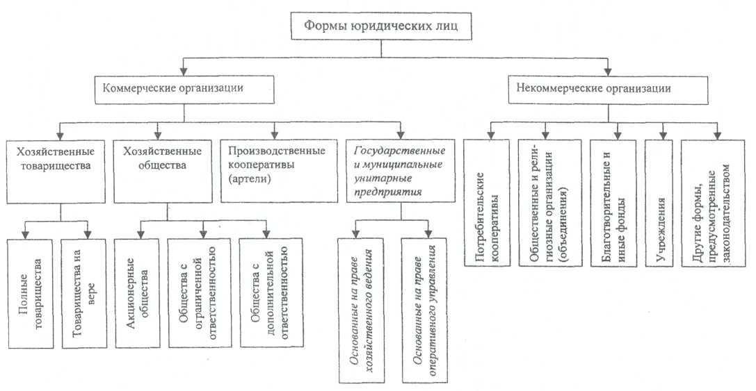 некоммерческих организационно-правовые шпаргалка формы предприятий