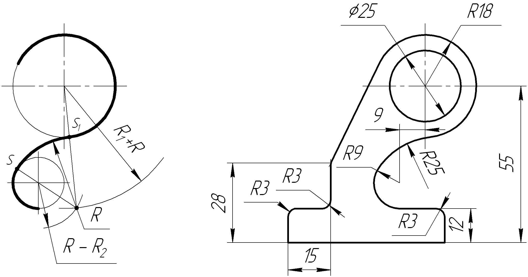 картинки сопряжение черчение кадрах модель вместе
