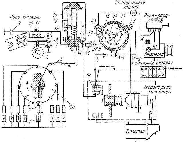 Система зажигания зил 130 схема бесконтактная