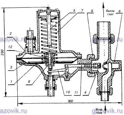Клапан рабочий для регулятора давления газа РД-32М