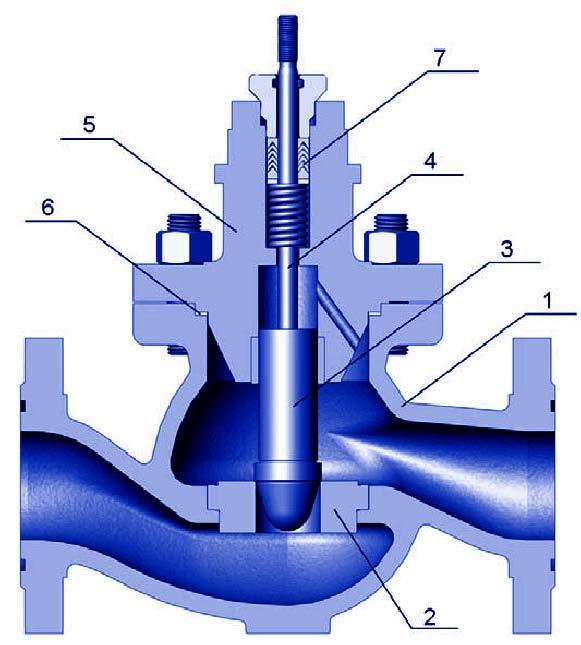 Клапан запорный проходной, L=310, исполнение 3