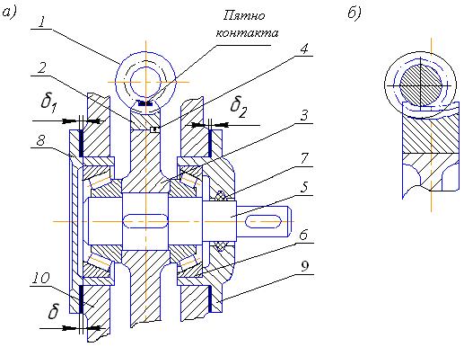 Клапан проходной с коническим зацеплением