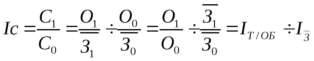 индекс среднего уровня издержек обращения формула