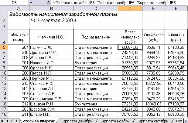 Перечисление зарплаты на банковский счет