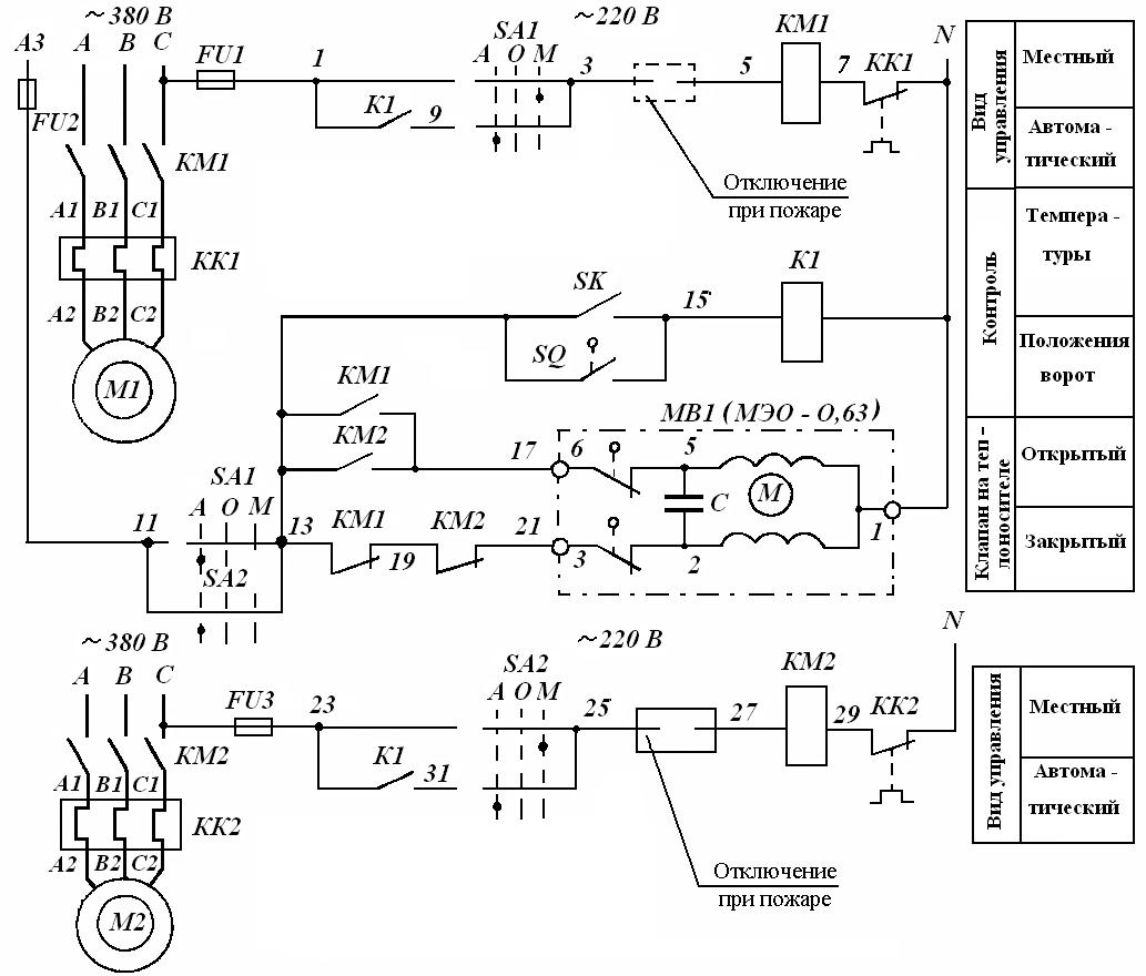 Схема управления вентиляционной установкой фото 477