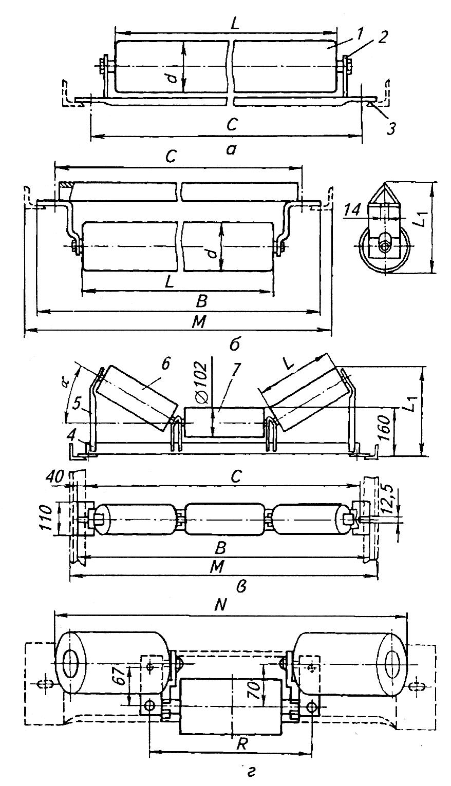 Размеры роликов ленточных конвейеров дома с конвейера