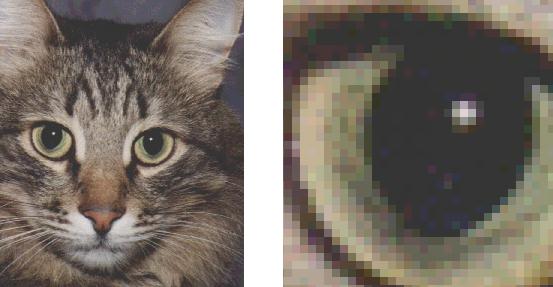 почему при увеличении фото видно пиксели поздравлю души