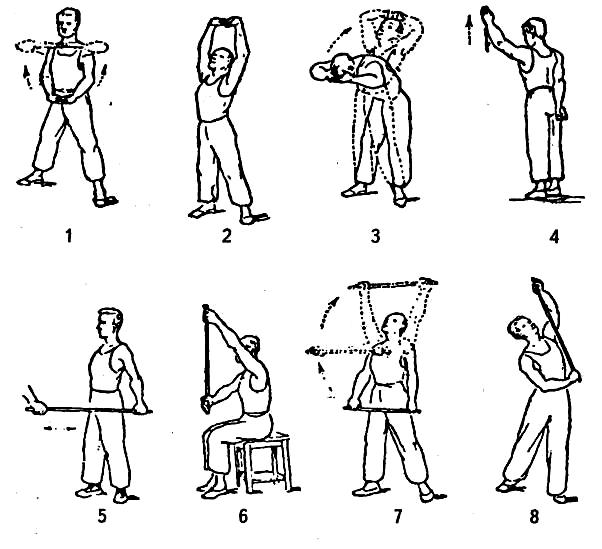 Комплекс упражнений на плечевого сустава гимнастика евдокименко для коленных суставов