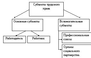 Реферат понятие и виды субъектов трудового права 6978