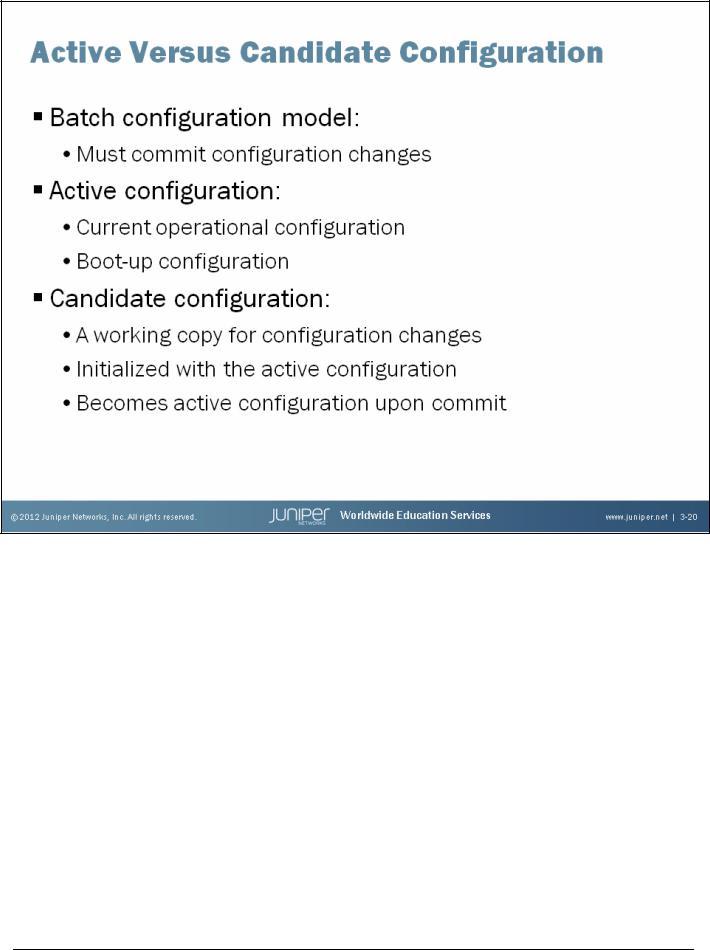 The Junos CLI: Operational Mode