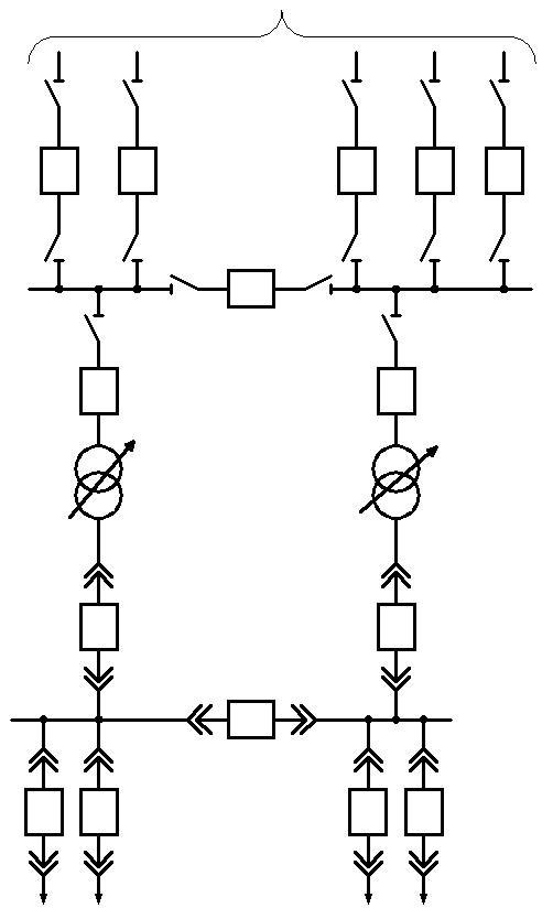 Схема трансформаторов с расщепленной обмоткой5