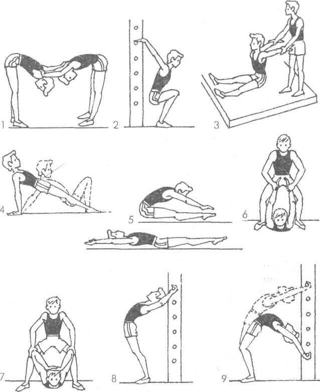 Упражнение на гибкость картинки