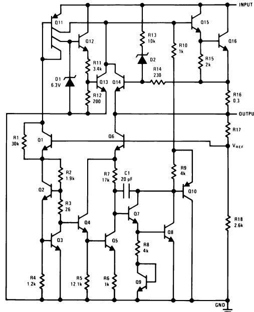 Схема включения 78l08
