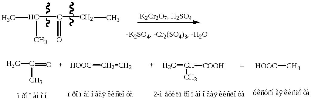 Структурные формулы бутаналя и его изомеров