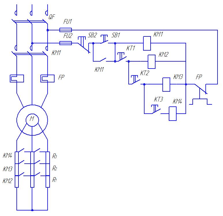 Электрическая схема фар головного света 695