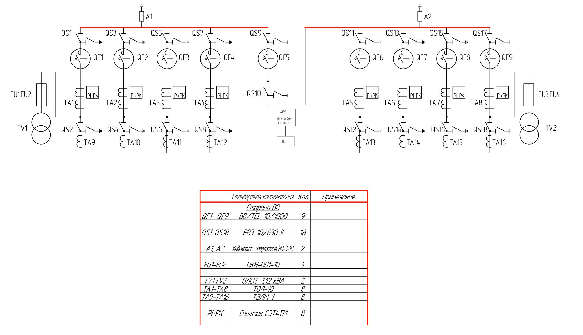 Схемы принципиальные электрические ра
