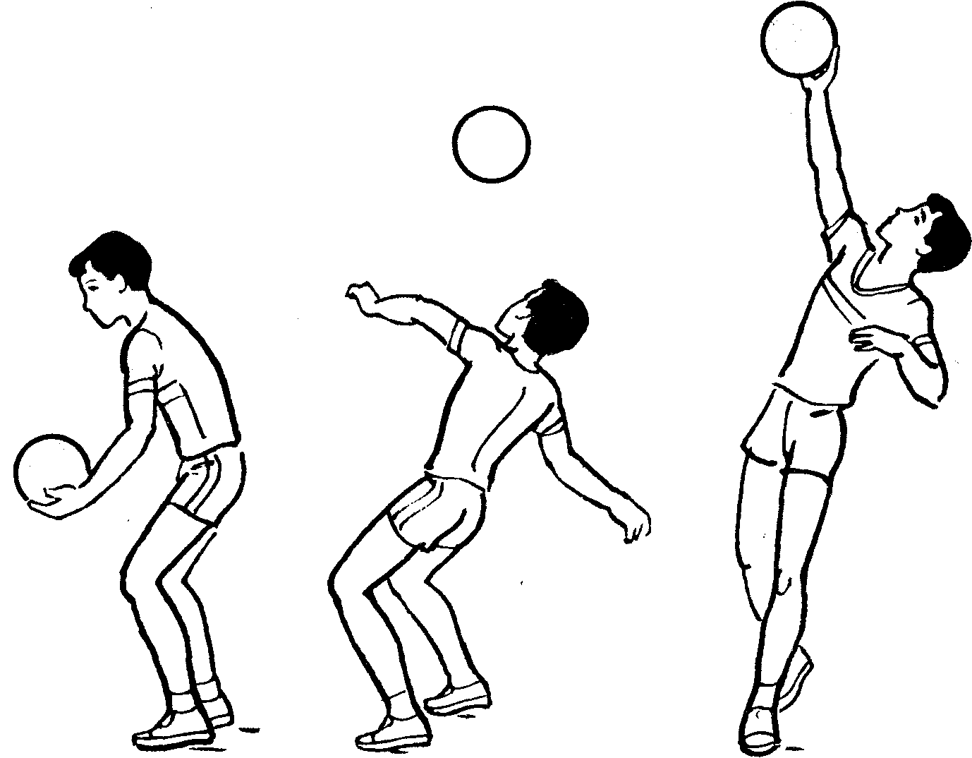 верхняя передача мяча в картинках