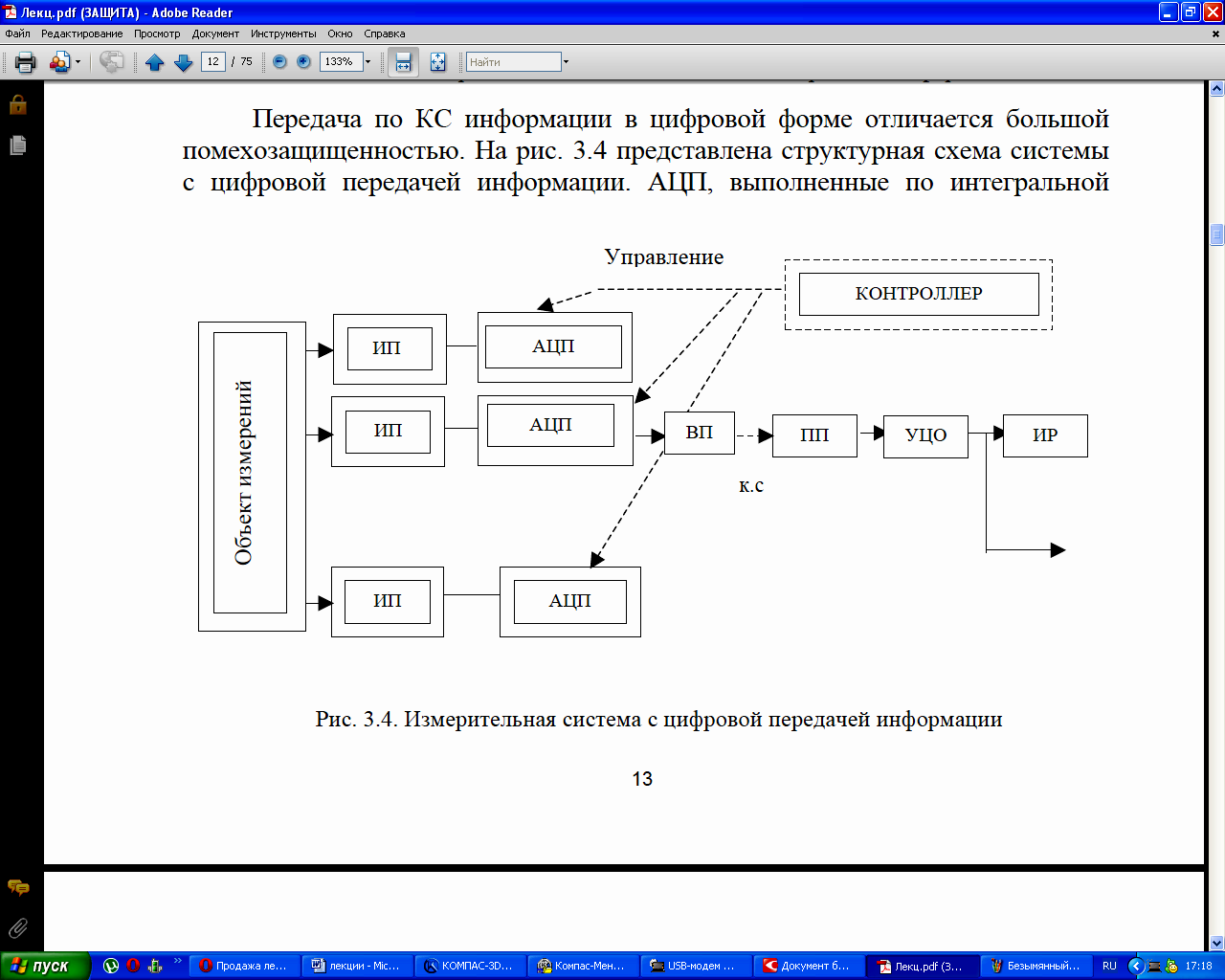 Система передачи информации схема
