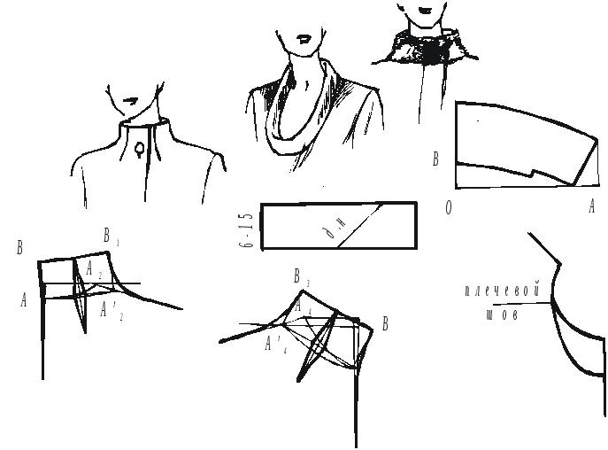 Как сшить блузку с отложным воротником 71