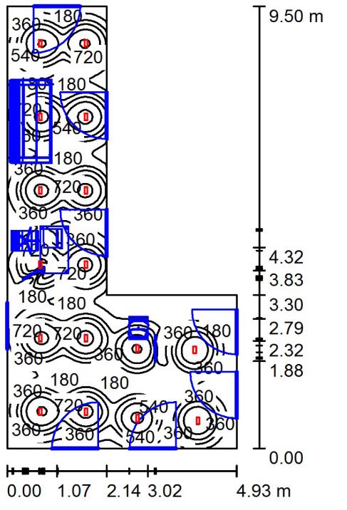 решебник по светотехнике l=60m b=18m h=6 расчет освещения