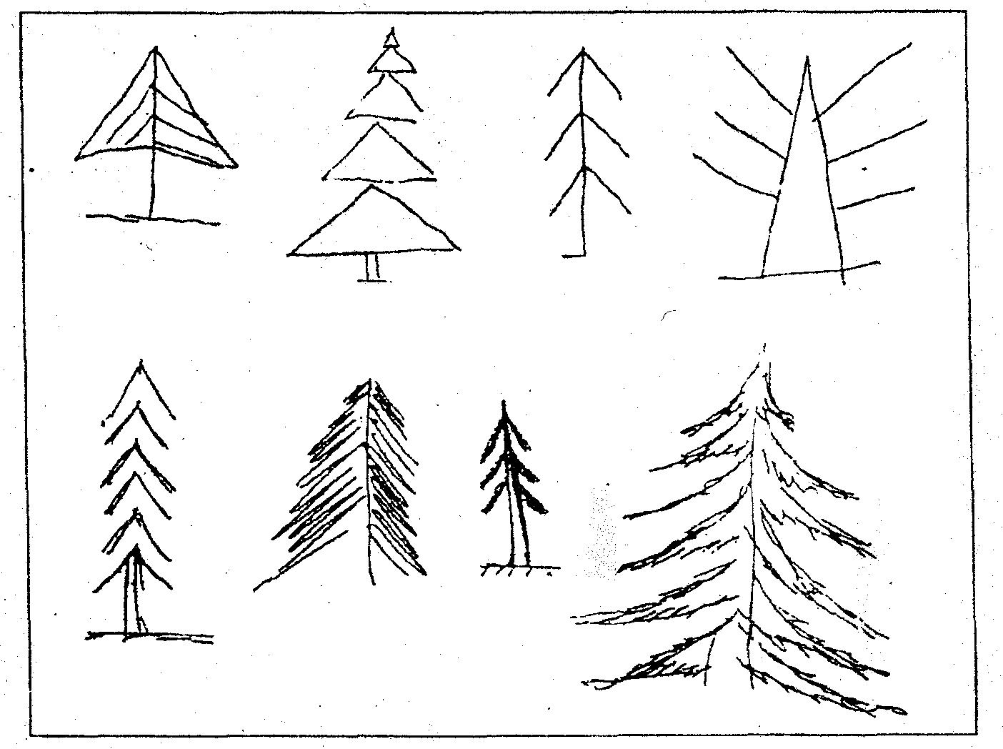 тест с деревьями в картинках